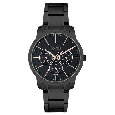 LOVME 個性簡約時尚腕錶-IP黑/37mm