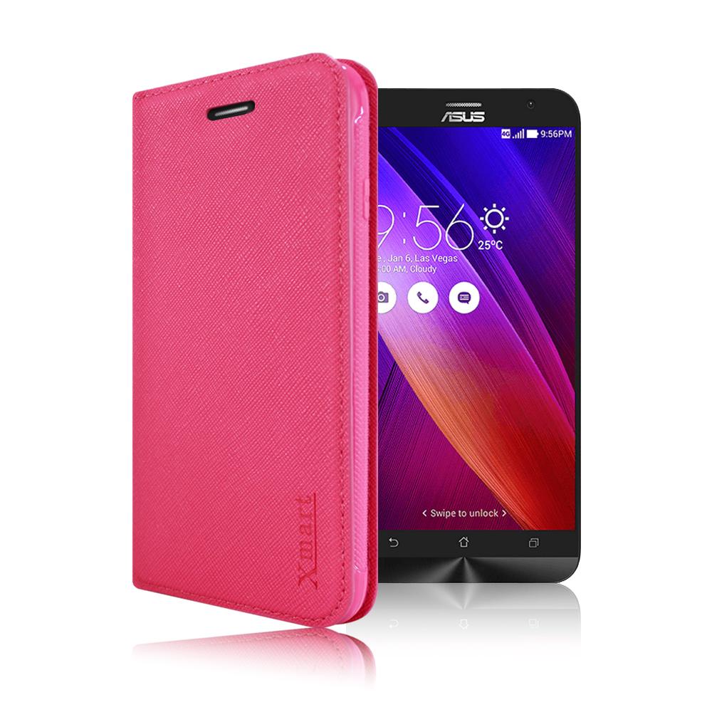 X mart ASUS ZenFone 2 ZE551ML 鍾愛原味磁吸側掀皮套