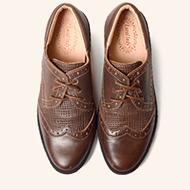 格紋牛津鞋