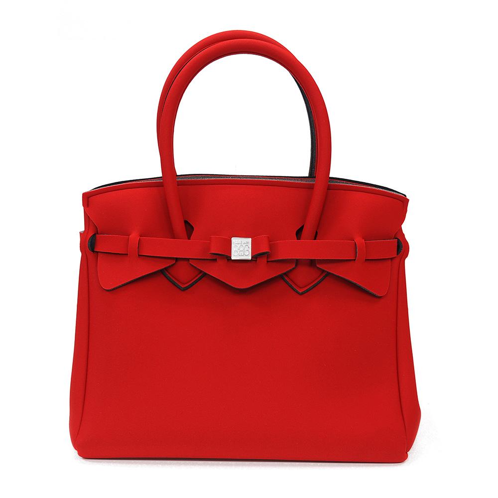 SAVE MY BAG 義大利品牌 MISS系列 亮紅色超輕量手提托特包