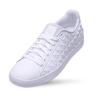 PUMA CLYDE 3DXRay v2FM男女復古籃球運動鞋-白