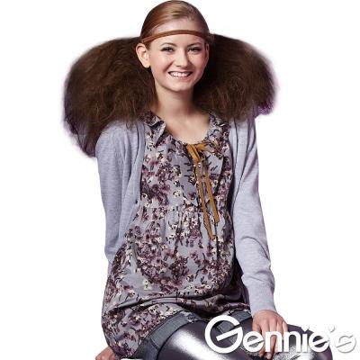 Gennie's奇妮-飄逸印花T版上衣-M(G3223)