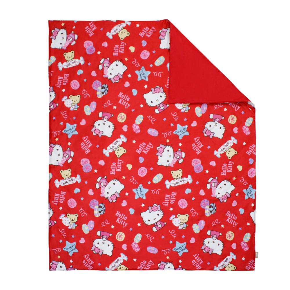 鴻宇HongYew 日本抗菌100%精梳棉-Hello Kitty甜蜜夥伴 紅 兒童涼被