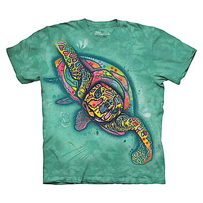 摩達客 美國進口The Mountain 彩繪海龜 純棉環保短袖T恤