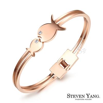 STEVEN-YANG-白鋼手環-可愛雙魚