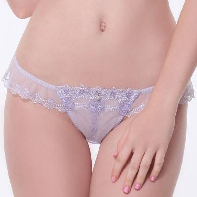 LADY 浪漫英倫系列 低腰丁字內褲(浪漫紫)