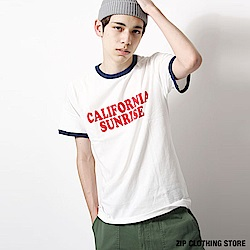 LOGO大學短袖T恤(18色) ZIP日本男裝