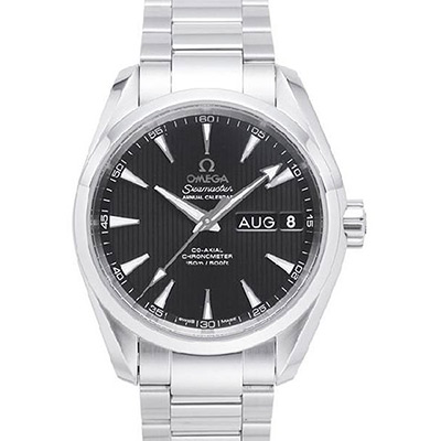 OMEGA 歐米茄 Seamaster Aqua Terra 年曆經典腕錶-黑/38.5mm