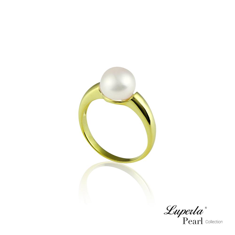大東山珠寶 淡水珍珠純銀晶鑽戒指 金漾