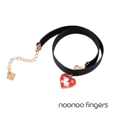 Noonoo Fingers Red Noonicorn Choker 愛心獨角獸頸鍊