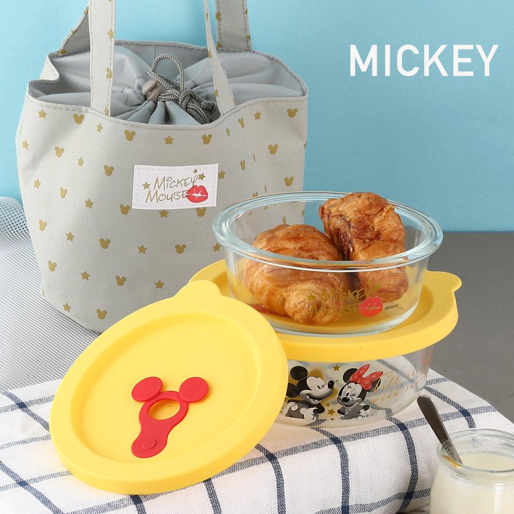 迪士尼Disney Super Star玻璃保鮮盒提袋組350ml+550ml(8H)