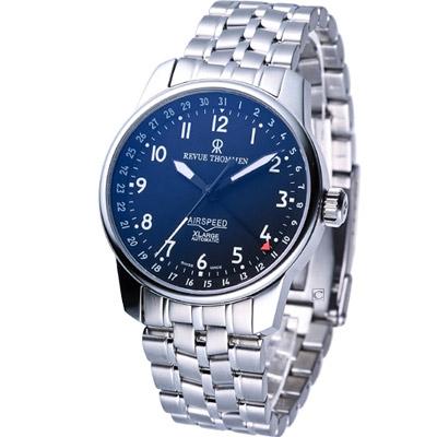 Revue Thommen AIRSPEED X-Large 機械腕錶-黑/40mm