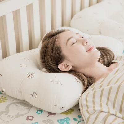 奶油獅-星空飛行-美國防蹣抗菌可水洗物理健康止鼾枕-一入