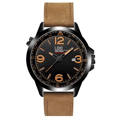 Lee  時空密碼時尚腕錶-LES-M45DBL5-19/44mm