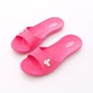Disney迪士尼-mickey一體成型拖鞋-464738桃(女段)N