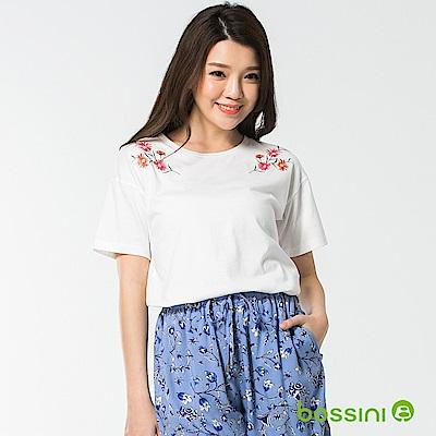 bossini女裝-圓領短袖上衣14灰白