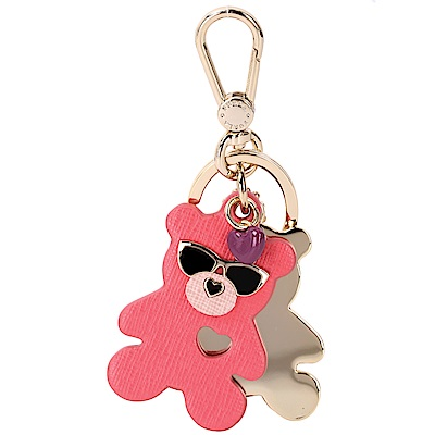FURLA VENUS 蜜糖粉小熊造型鑰匙圈