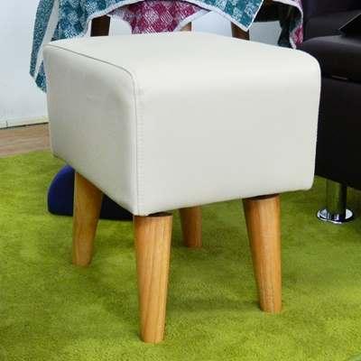 時尚屋 長方型1.4尺米色實木腳椅凳 寬40cm-免組
