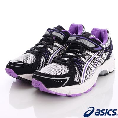 asics競速童鞋-亞瑟膠避震運動33N-0101銀紫(中小童段)-N0