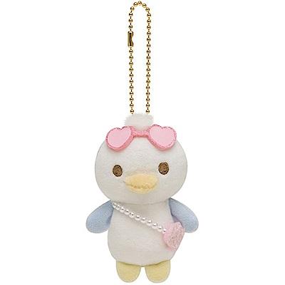 懶妹的珍珠貝殼海系列毛絨公仔吊飾。小企鵝  San-X