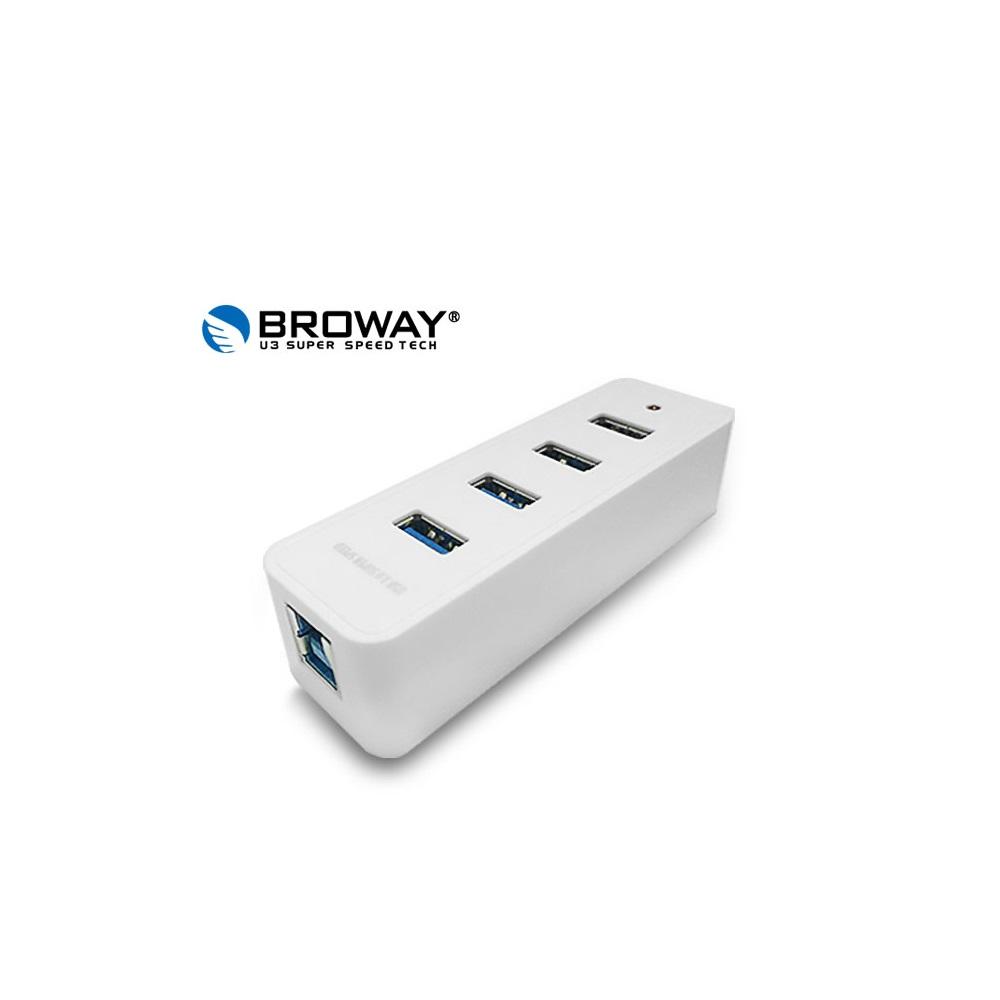 BROWAY 5Gbps USB3.0 4PORT HUB集線器 簡單白