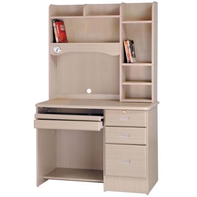 時尚屋 進興白橡色3.5x5.6尺電腦桌 寬104cm