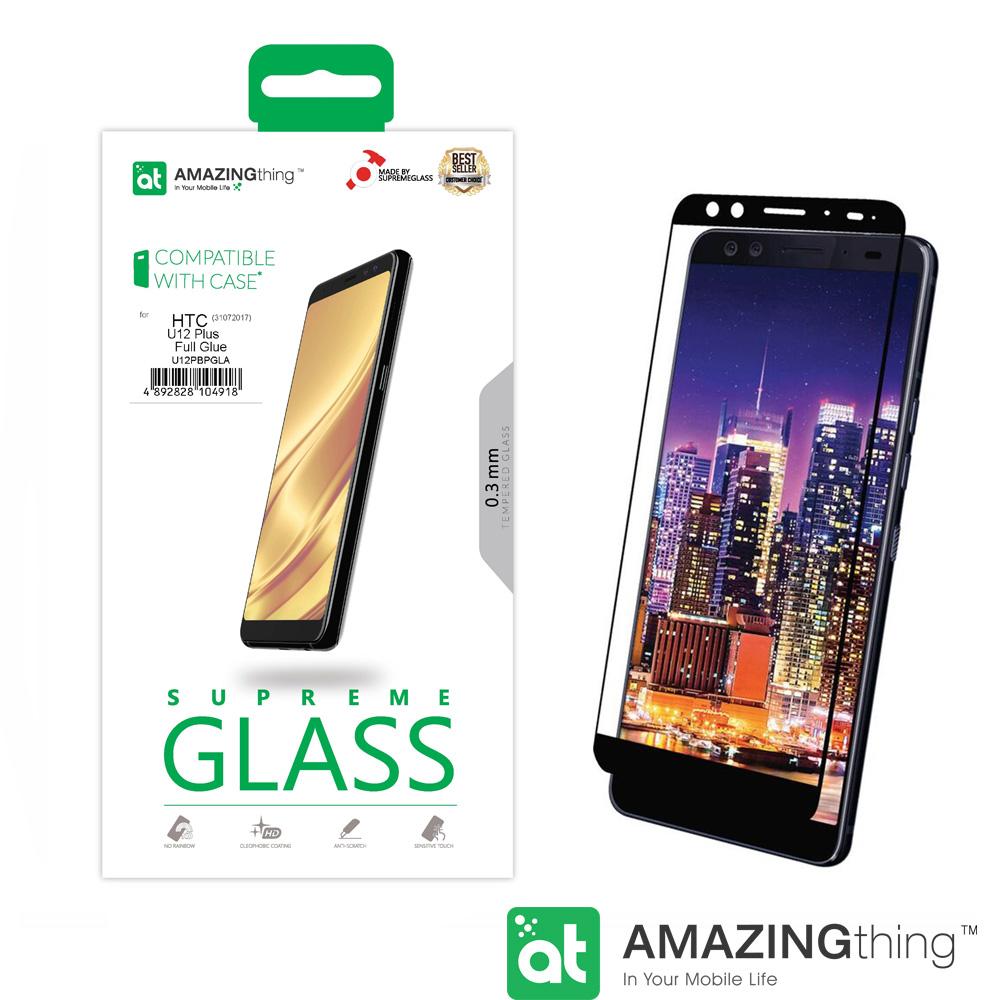 AMAZINGthing HTC U12 Plus 滿版強化玻璃保護貼