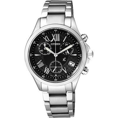CITIZEN xC 光動能羅馬戀人計時腕錶(FB1400-78E)-黑/32mm