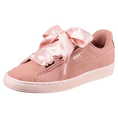 PUMA-SuedeHeartPebbleWns女籃球鞋-蜜桃白