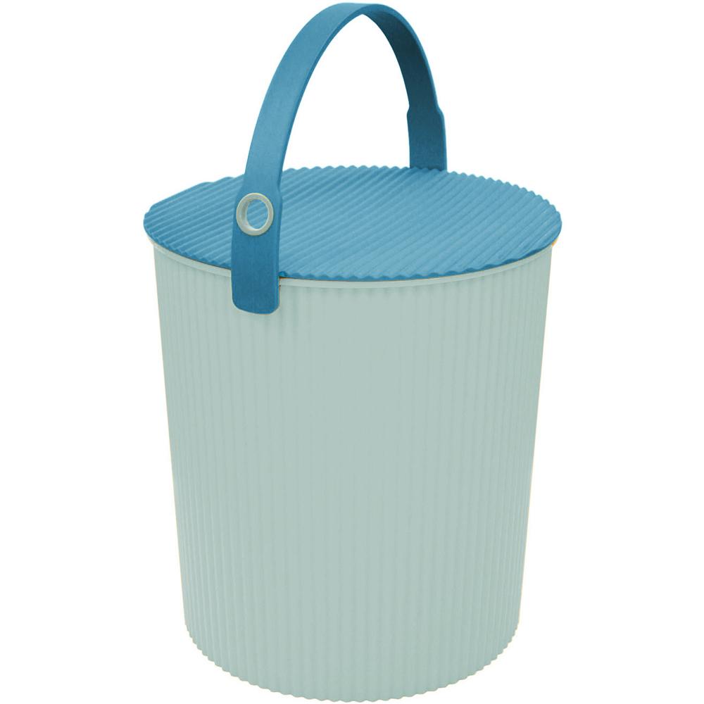 Sceltevie 瓦楞收納桶(淺藍XL)