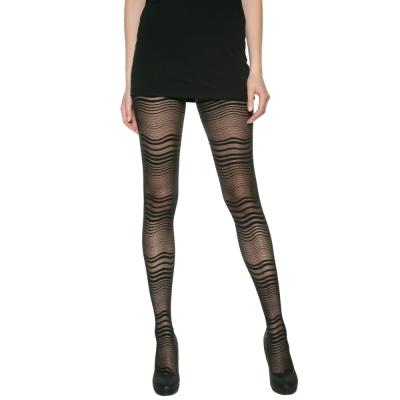 法國DIM-MOD-時尚-系列趣味波浪紋造型褲襪-012K