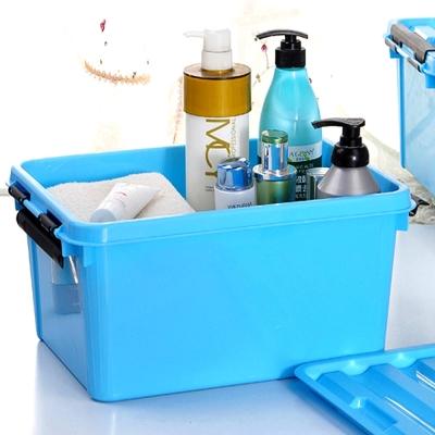 美樂麗 22L 物品收納卡扣整理箱 - 淺藍*8入