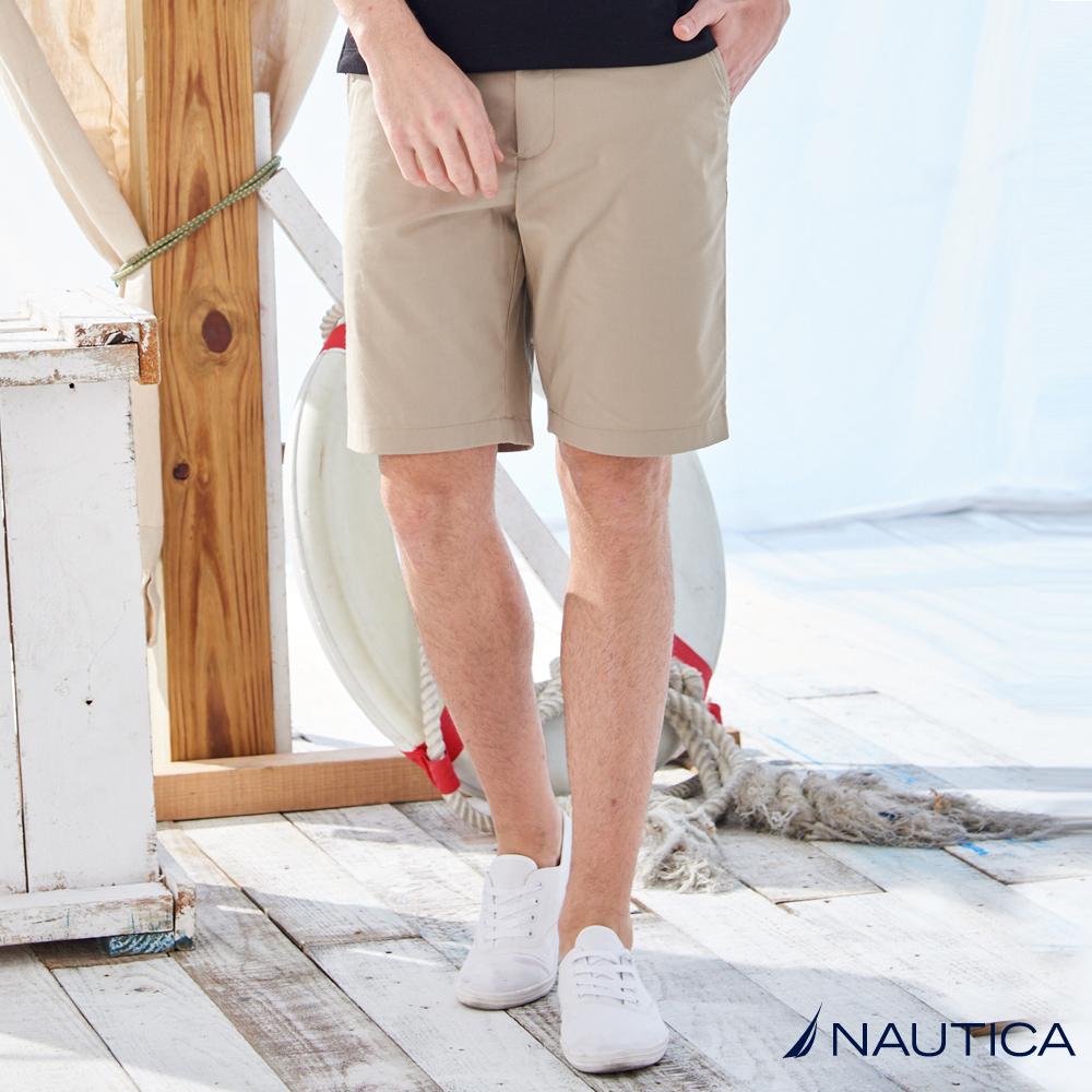Nautica經典百搭涼感短褲 -卡其