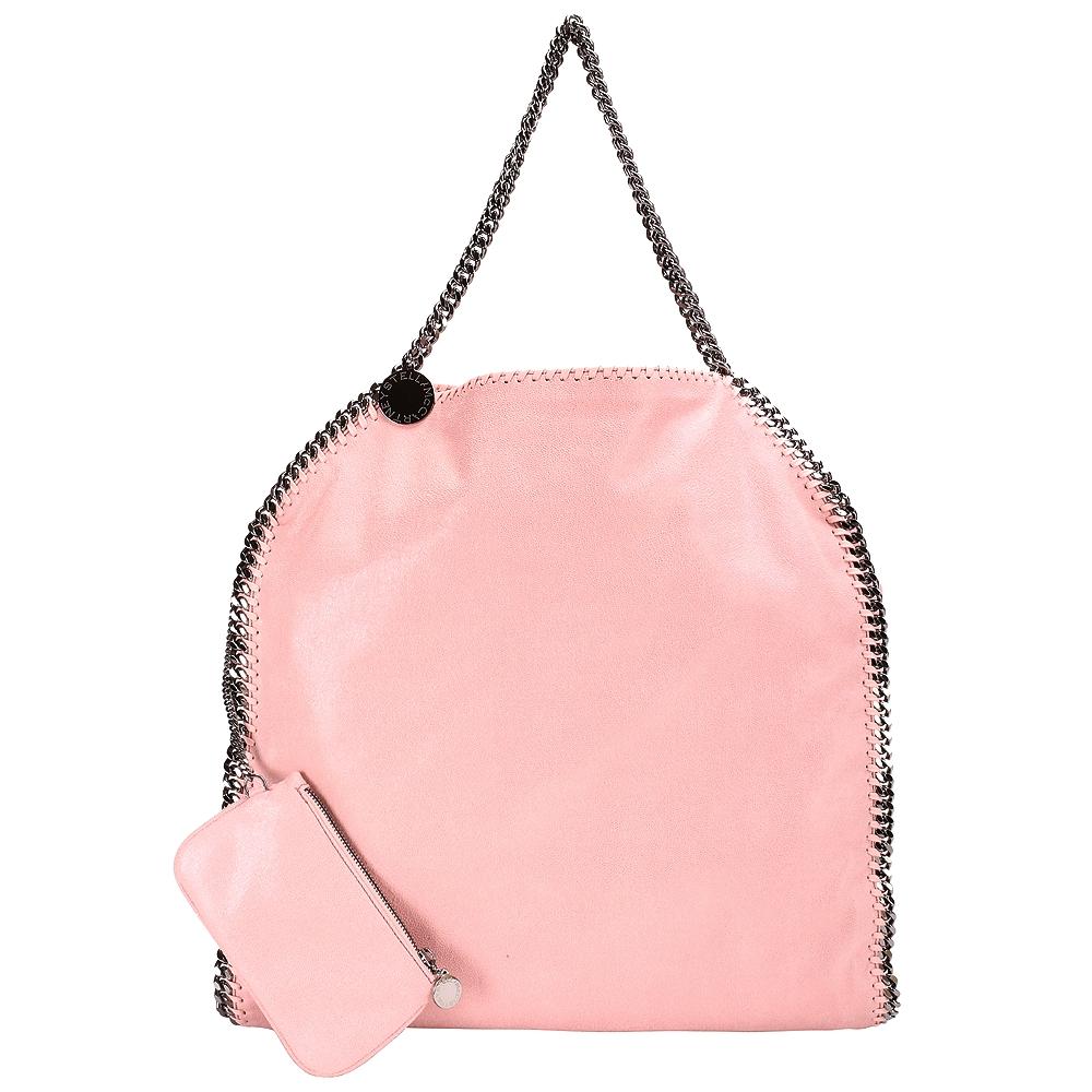 Stella McCartney Falabella 粉色鏈帶包(大/附萬用包)