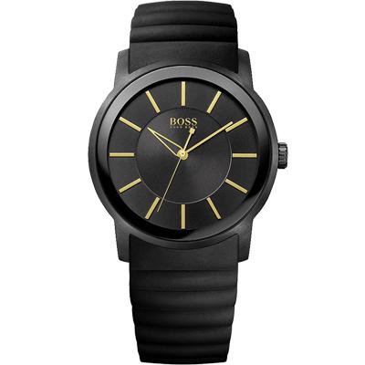 HUGO BOSS 都會型男時尚腕錶-黑/42mm