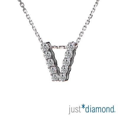 Just Diamond Love Words系列18K金鑽石墜子-V