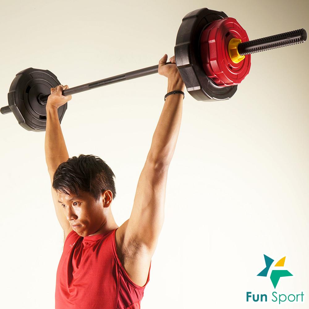 FunSport 威特力 組合式長槓鈴50kg組-台灣製 深蹲 硬舉