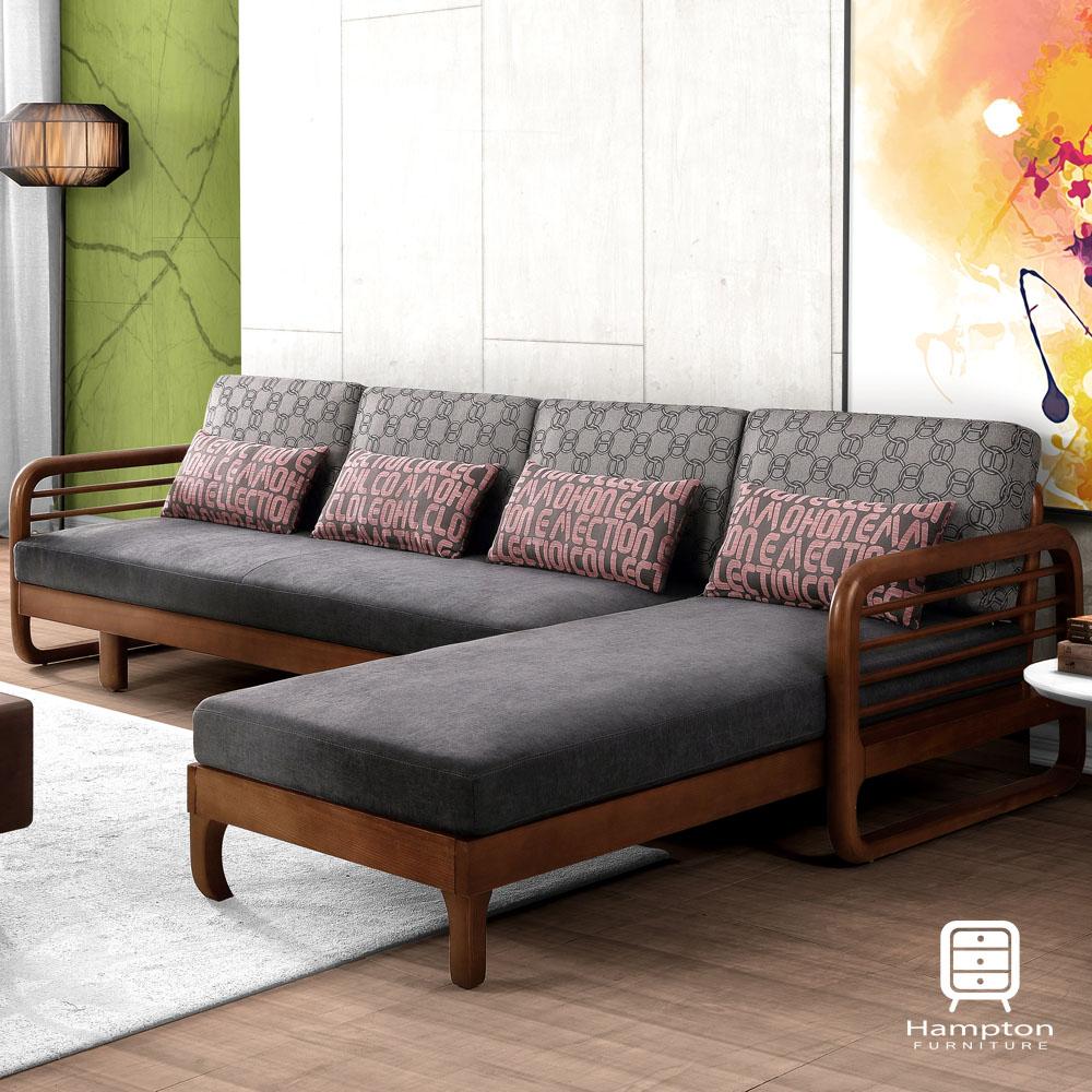 漢妮Hampton艾絲特L型沙發床(正向)