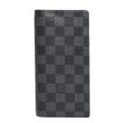 LV N62227 Damier Graphite男士棋盤格對折長夾(黑灰)