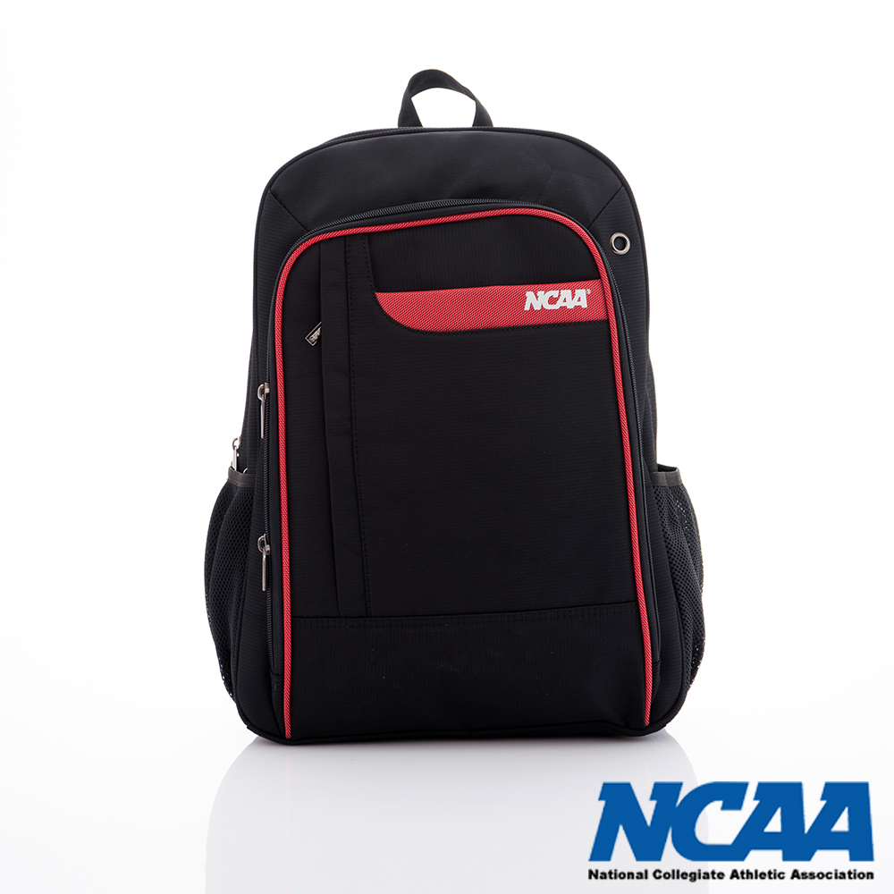 NCAA - BE BOSS 系列  雙層描線硬挺後背包 - 紅黑