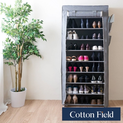 棉花田 禮頓 簡易組裝單門九層防塵鞋架-4色可選