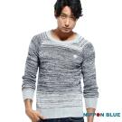 日本藍 BLUE WAY 簡約率性混紗薄針織衫