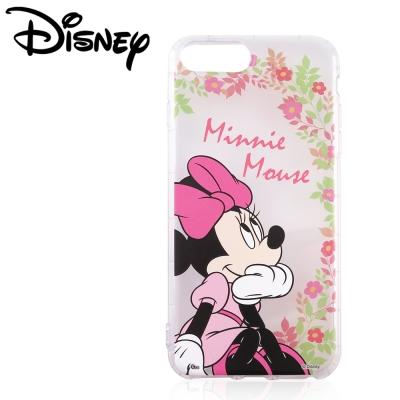 Disney迪士尼iPhone 6/6s/7 Plus共用防摔氣墊空壓保護套_賞花米妮
