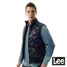 Lee 保暖棉背心幾何圖形-男款- 男款-藍