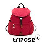 tripose MEMENTO系列微皺尼龍輕量防潑水後背包-小 石榴紅
