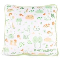 kapibarasan 水豚君北歐系列絨毛抱枕。綠色