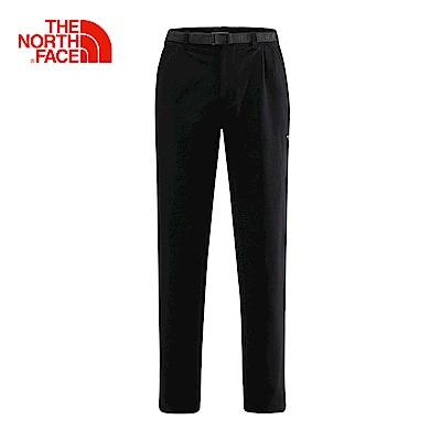 The North Face北面男款黑色防水透氣防風褲