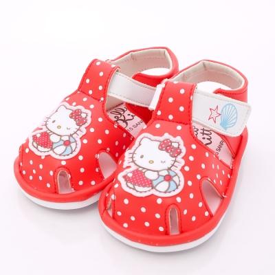 HelloKitty童鞋-俏皮圓點嗶嗶鞋-815705紅(中小童段)N
