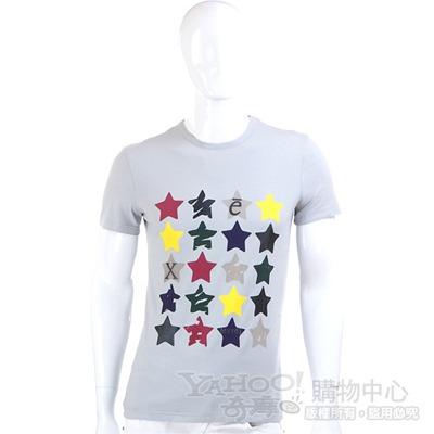 EXTE 灰色星星短袖T恤