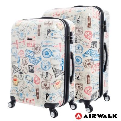 AIRWALK  -精彩歷程 環郵世界行李箱24+28吋 二箱組(各地米白)